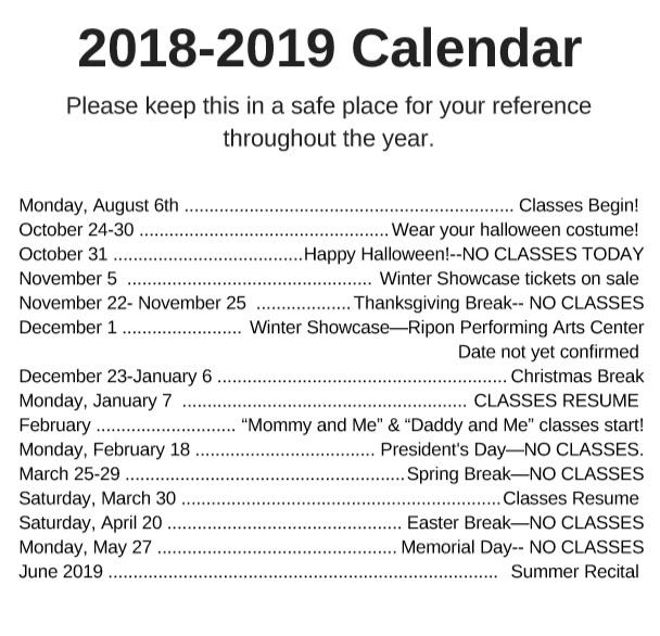 calendar 18-19