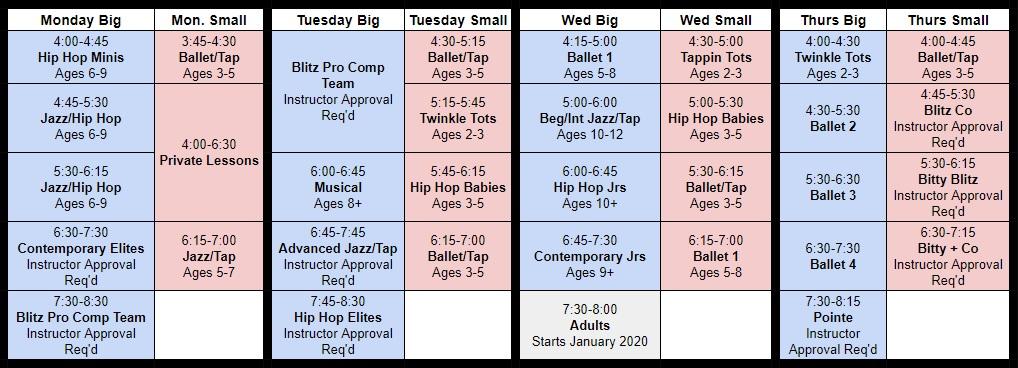 schedule 19-20